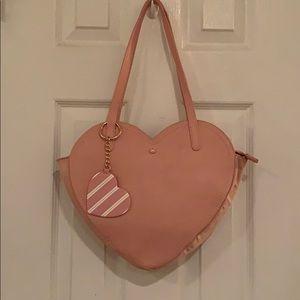 Lauren Conrad  Light Baby Pink Heart Handbag
